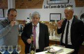 De gauche à droite : Régis Alcocer, président des Caves de la Loire/Loire Propriété, Jean-Michel Mignot, directeur de l'UAPL et Jérôme Lemasson, directeur du pôle vin de l'UAPL. Photo : O.Lévêque/Pixel Image