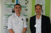 À gauche, Benjamin Grellier, responsable marketing et amélioration LVVD, et à droite, Philippe Serrault, directeur LVVD, pour les 10 ans de l'entreprise. Photos : O.Lévêque/Pixel Image