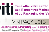 Viti fait gagner des places gratuites pour les Rencontres Vinipack 2016
