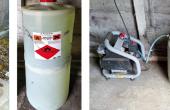 Lors d'une alerte grêle, les générateurs au sol du réseau Arelfa sont mis en route. Une solution acétonique à iodure d'argent est brûlée dans la cheminée du générateur. Cette combustion libère de l'eau et du CO2 ainsi que les particules d'iodure d'argent.  Photo : M. Tercinier