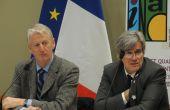 Jean Charles Arnaud président de l'INAO et Stéphane Le Foll, ministre de l'Agriculture. Credit photo : Audrey Domenach/Pixel image