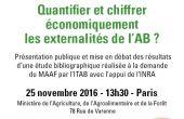 """L'Institut Technique de l'Agriculture Biologique (ITAB) organise un colloque sur le thème """"Quantifier et chiffrer économiquement les externalités de l'agriculture biologique ?"""" le 25 novembre 2016 à 13h30 à Paris."""