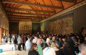 Le groupe Terres et vins de Champagne au palais du Tau à Reims durant le printemps des champagnes (DL)