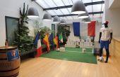 Une animation Tir au but pendant la durée de l'euro 2016 a été mise en place à la cave des vignerons de caractère de Vacqueyras. Crédit photo : Audrey Domenach / Pixel Image